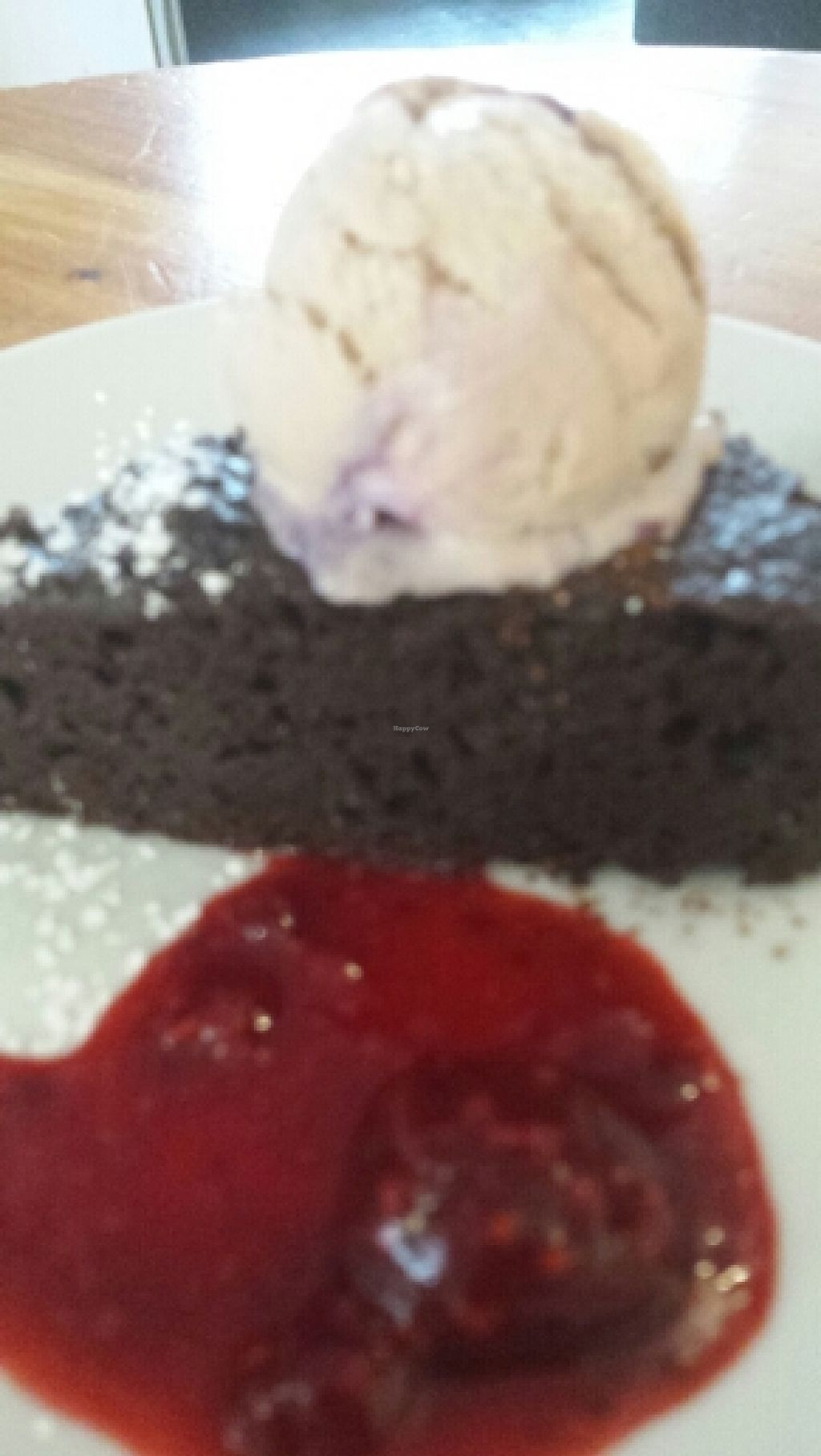 """Photo of The Warehouse Cafe  by <a href=""""/members/profile/Good%20for%20Vegans"""">Good for Vegans</a> <br/>Chocolate Brownie and vegan icecream <br/> October 9, 2015  - <a href='/contact/abuse/image/640/120715'>Report</a>"""