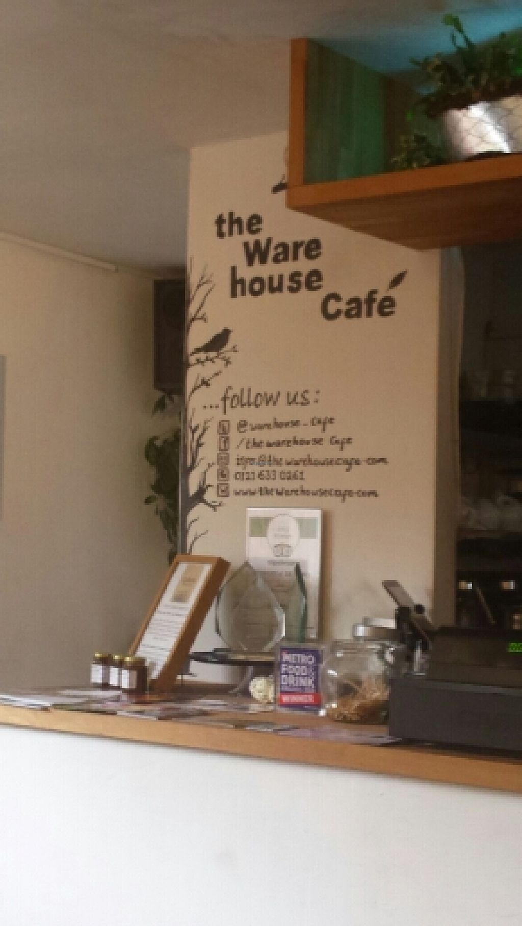 """Photo of The Warehouse Cafe  by <a href=""""/members/profile/Good%20for%20Vegans"""">Good for Vegans</a> <br/>Counter <br/> October 9, 2015  - <a href='/contact/abuse/image/640/120716'>Report</a>"""