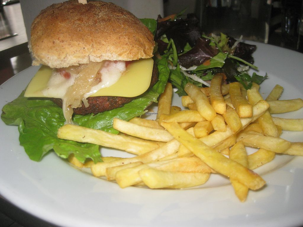 """Photo of The Warehouse Cafe  by <a href=""""/members/profile/jennyc32"""">jennyc32</a> <br/>Warehouse burger <br/> July 7, 2017  - <a href='/contact/abuse/image/640/277469'>Report</a>"""