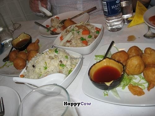 """Photo of Veggie World  by <a href=""""/members/profile/Icahlua"""">Icahlua</a> <br/>Special Fried Rice (mixed veggie soya meats and vegetables) & Veggie Pork Balls <br/> August 31, 2013  - <a href='/contact/abuse/image/649/54107'>Report</a>"""