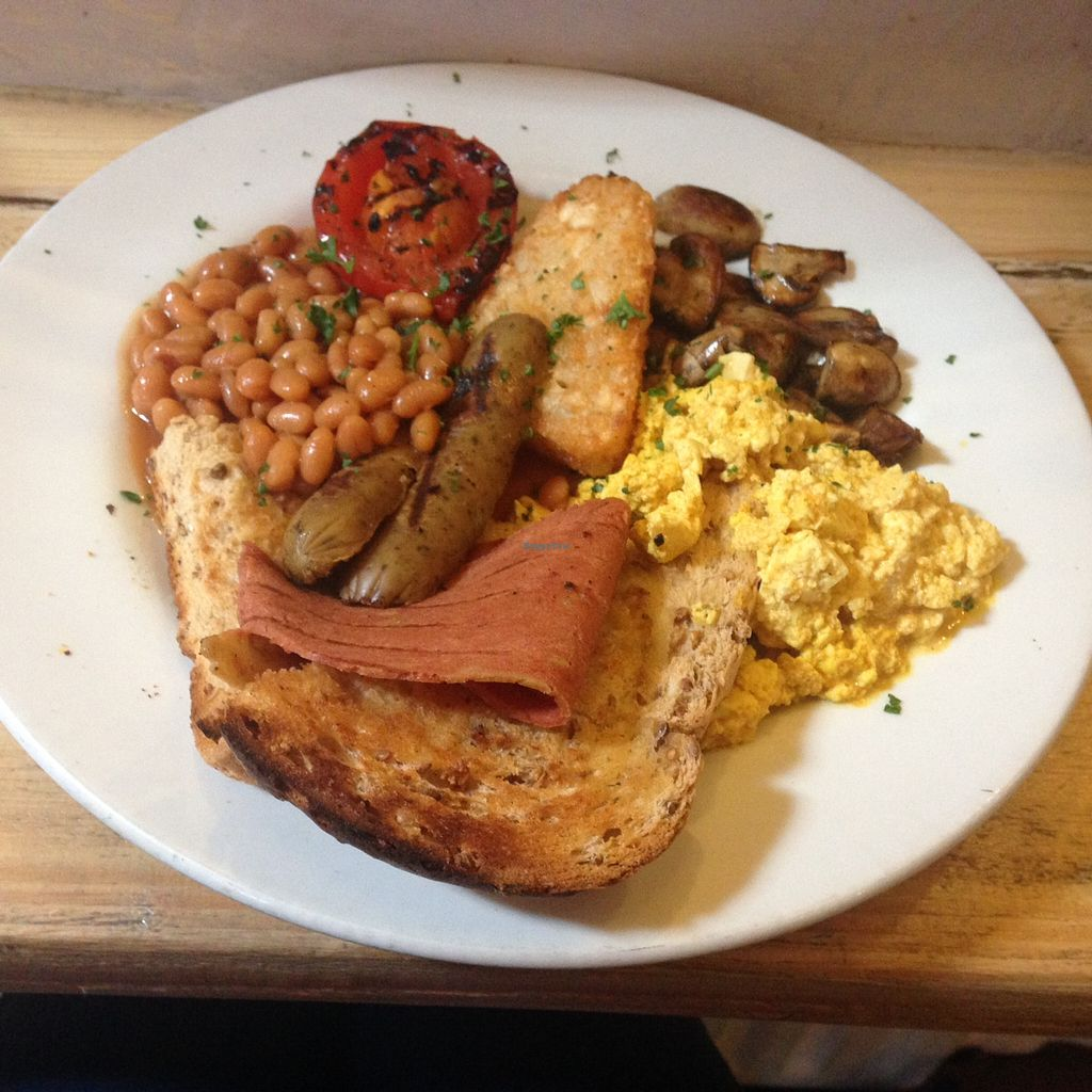 "Photo of Alley Cafe Bar  by <a href=""/members/profile/sareta"">sareta</a> <br/>Vegan breakfast with scrambled tofu, sausage and bacon <br/> August 10, 2015  - <a href='/contact/abuse/image/652/113019'>Report</a>"
