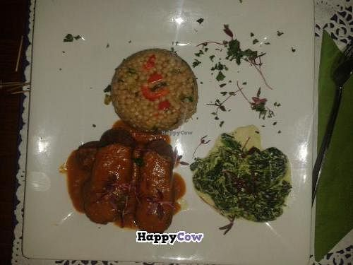 """Photo of CLOSED: Aubergine Cuisine  by <a href=""""/members/profile/RoseVonVegan"""">RoseVonVegan</a> <br/>My friend's tasty vegan dish with tempeh. She loved it! <br/> October 3, 2013  - <a href='/contact/abuse/image/655/56202'>Report</a>"""