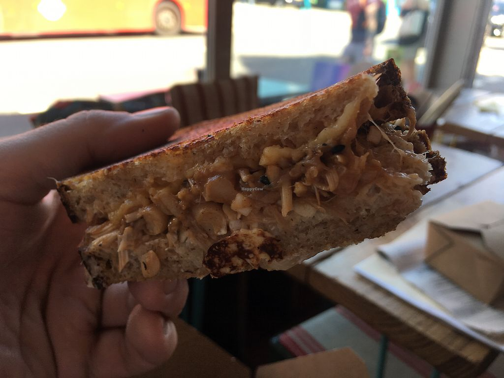 """Photo of Hornbeam Cafe  by <a href=""""/members/profile/Emsee"""">Emsee</a> <br/>Pulled Jackfruit BBQ Toastie was yum! <br/> May 7, 2018  - <a href='/contact/abuse/image/688/396651'>Report</a>"""