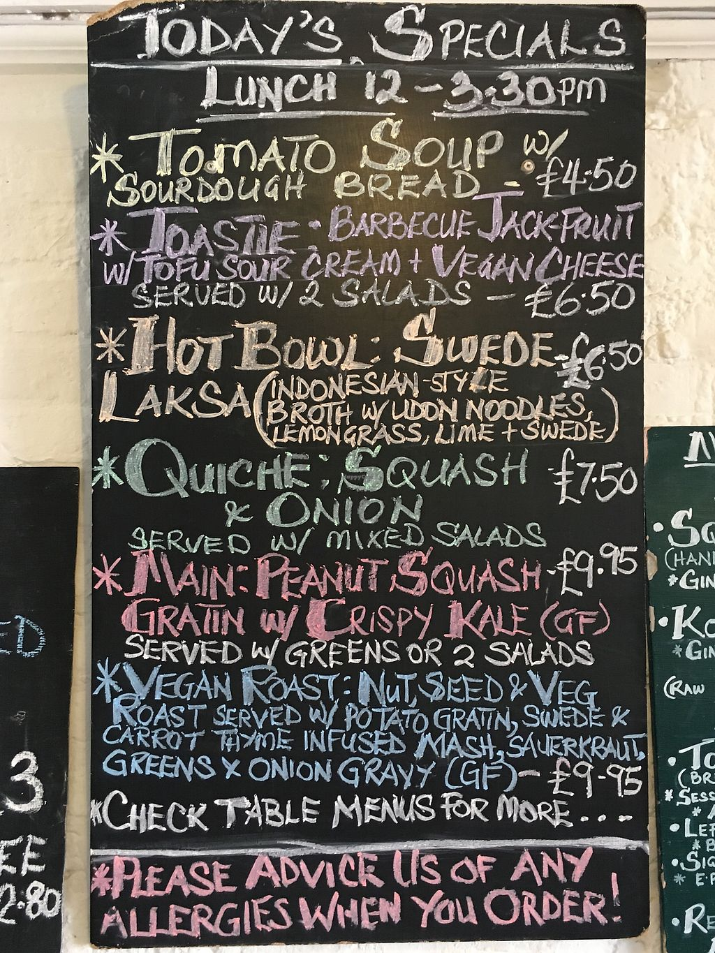 """Photo of Hornbeam Cafe  by <a href=""""/members/profile/Emsee"""">Emsee</a> <br/>Menu for May holiday weekend 2018 <br/> May 7, 2018  - <a href='/contact/abuse/image/688/396652'>Report</a>"""