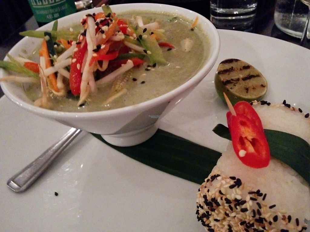 """Photo of The Gate - Hammersmith  by <a href=""""/members/profile/CLRtraveller"""">CLRtraveller</a> <br/>Thai green curry <br/> January 26, 2017  - <a href='/contact/abuse/image/698/217040'>Report</a>"""