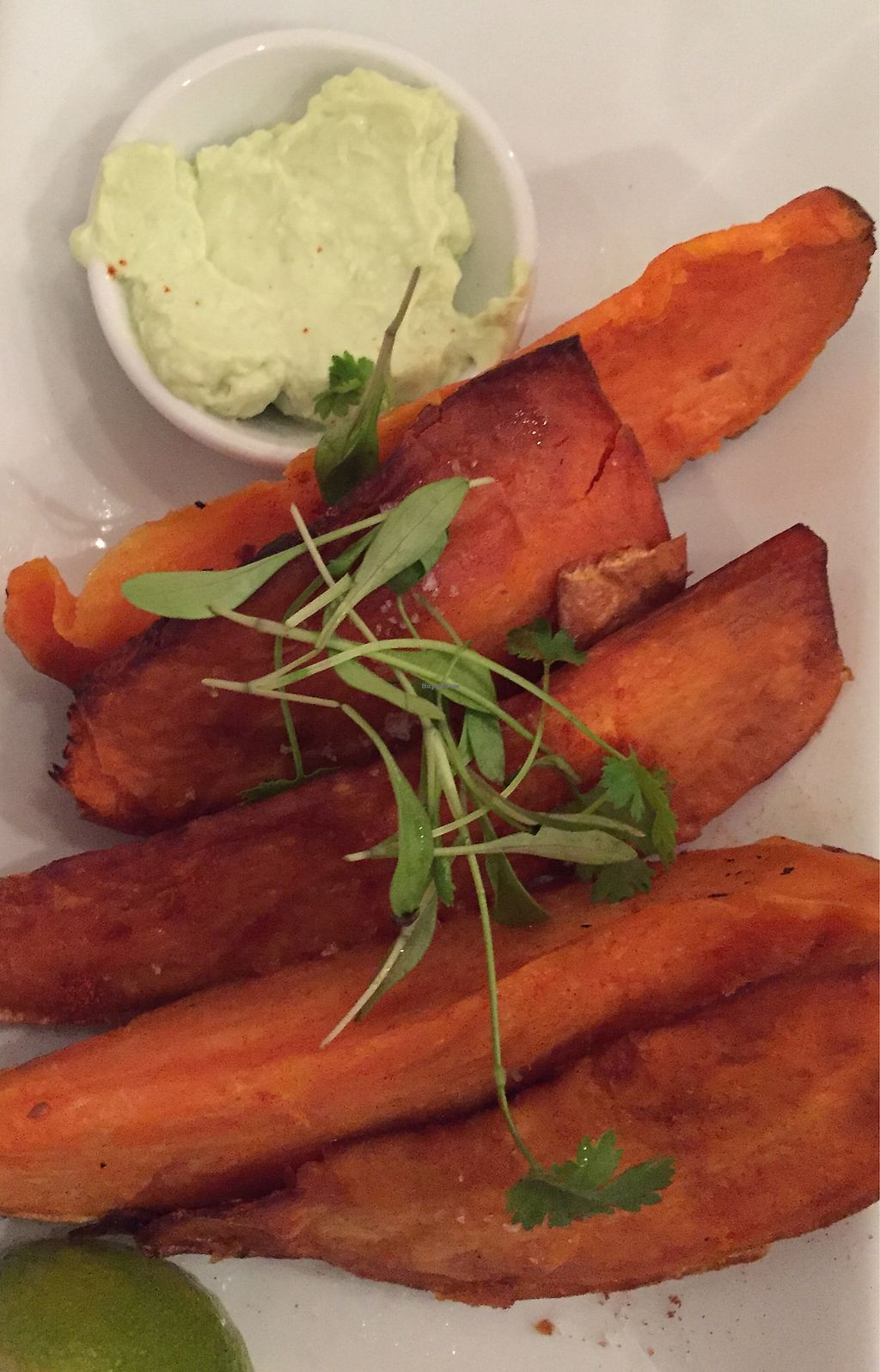 """Photo of The Gate - Hammersmith  by <a href=""""/members/profile/AnniR"""">AnniR</a> <br/>Roasted spiced sweet potato wedges  <br/> July 31, 2017  - <a href='/contact/abuse/image/698/286899'>Report</a>"""