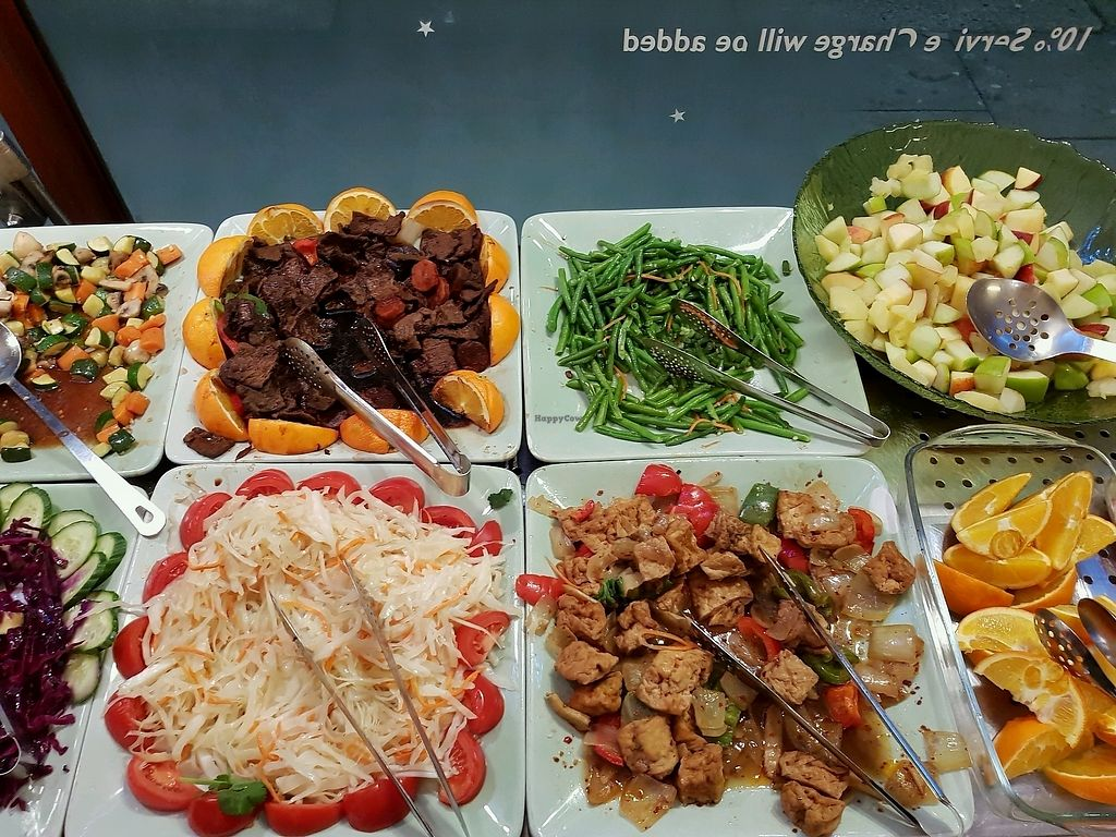 "Photo of Dou Dou - Qing Buffet  by <a href=""/members/profile/AlisonGala"">AlisonGala</a> <br/>fried tofu ""beef"", fruit salad  <br/> December 16, 2017  - <a href='/contact/abuse/image/701/336131'>Report</a>"