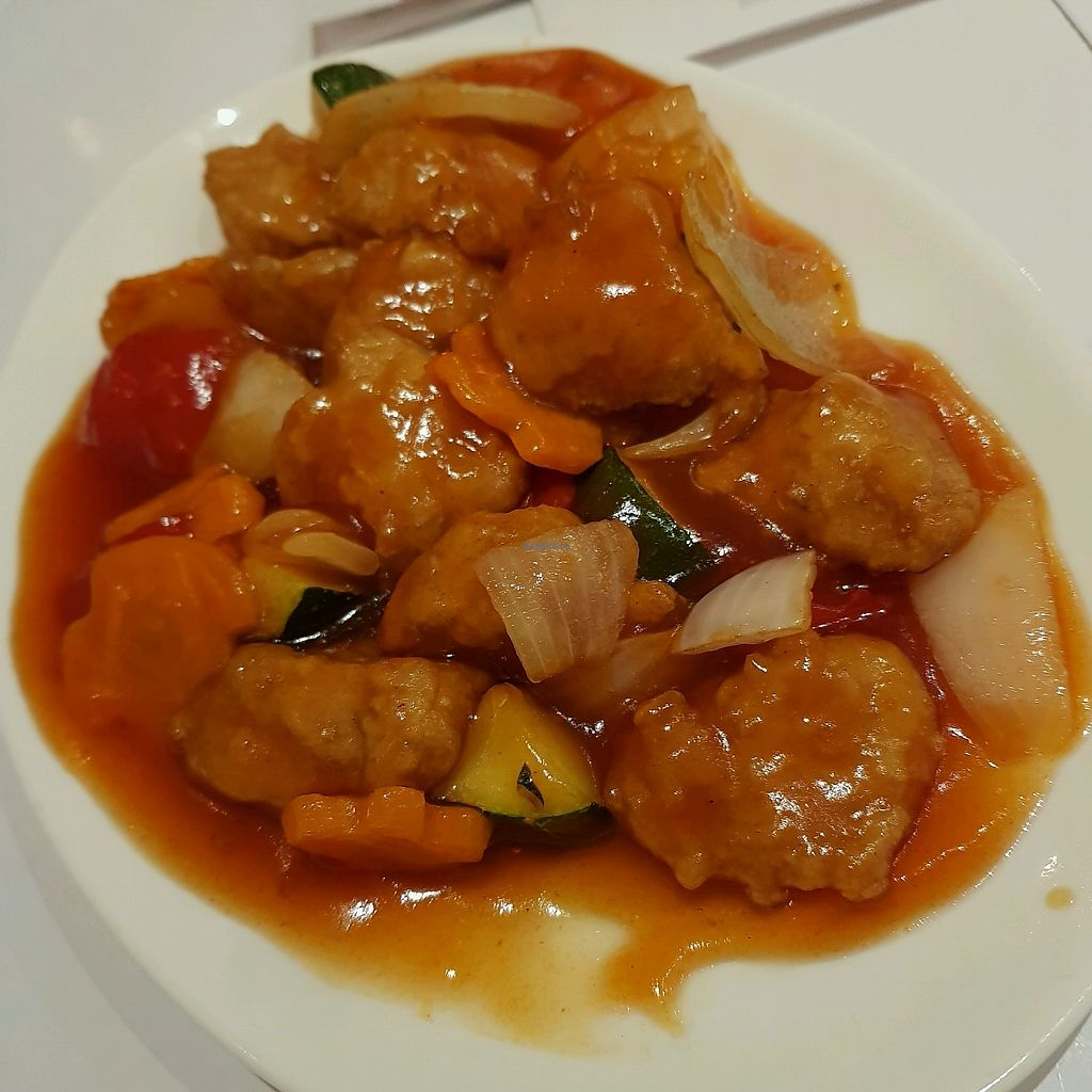 """Photo of Loving Hut  by <a href=""""/members/profile/Sassyvegan"""">Sassyvegan</a> <br/>sweet and sour chicken <br/> October 7, 2017  - <a href='/contact/abuse/image/703/312883'>Report</a>"""