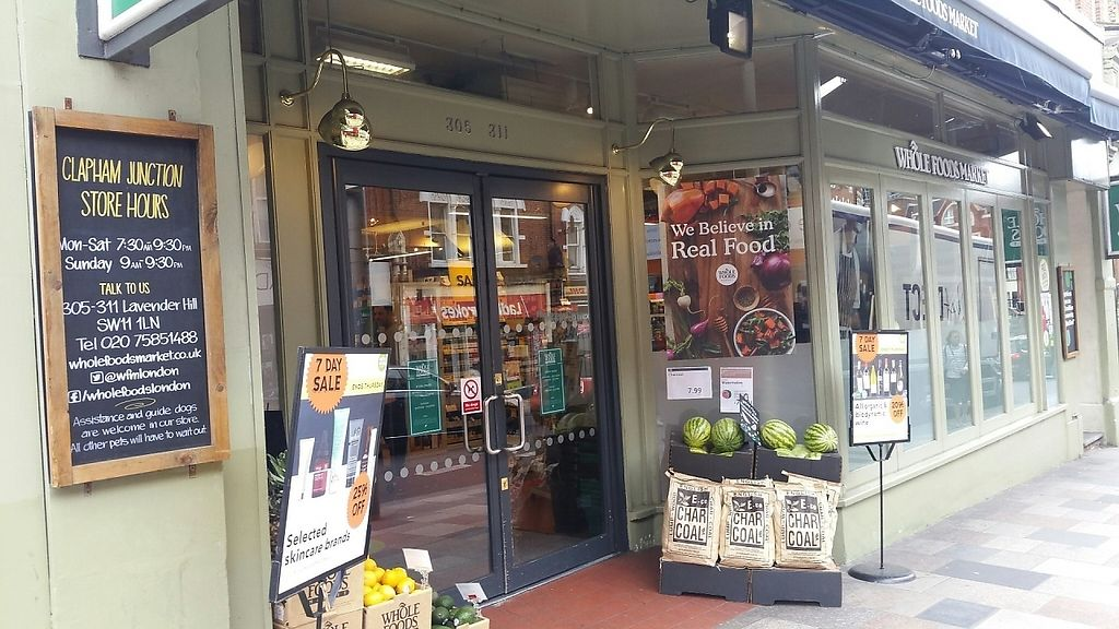 """Photo of Whole Foods Market - Clapham Junction  by <a href=""""/members/profile/jollypig"""">jollypig</a> <br/>Outside <br/> April 29, 2017  - <a href='/contact/abuse/image/736/253709'>Report</a>"""