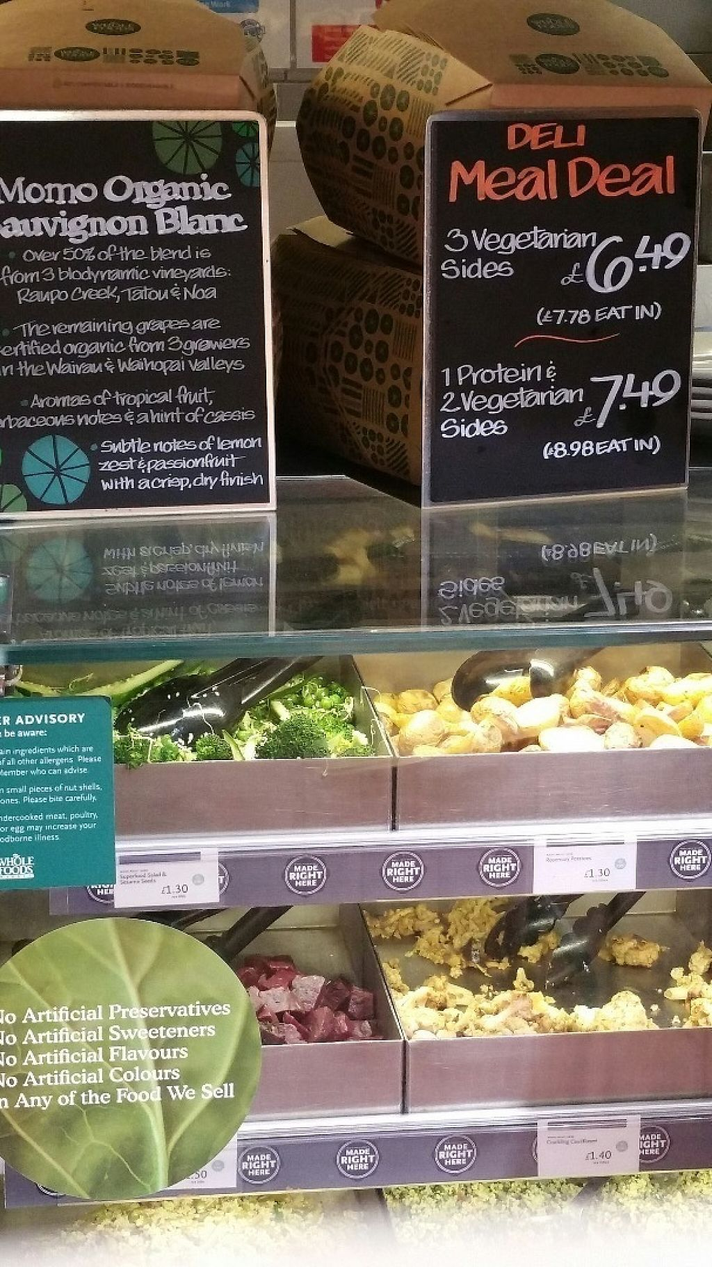 """Photo of Whole Foods Market - Clapham Junction  by <a href=""""/members/profile/jollypig"""">jollypig</a> <br/>The cafe counter <br/> April 29, 2017  - <a href='/contact/abuse/image/736/253715'>Report</a>"""