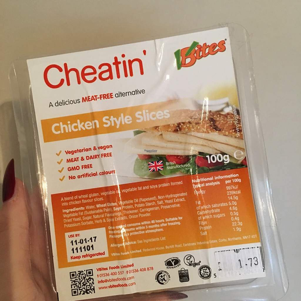 "Photo of Grain - Wholefood  by <a href=""/members/profile/romyhoskin"">romyhoskin</a> <br/>VBites Chicken Style Slices  <br/> April 17, 2017  - <a href='/contact/abuse/image/773/249440'>Report</a>"