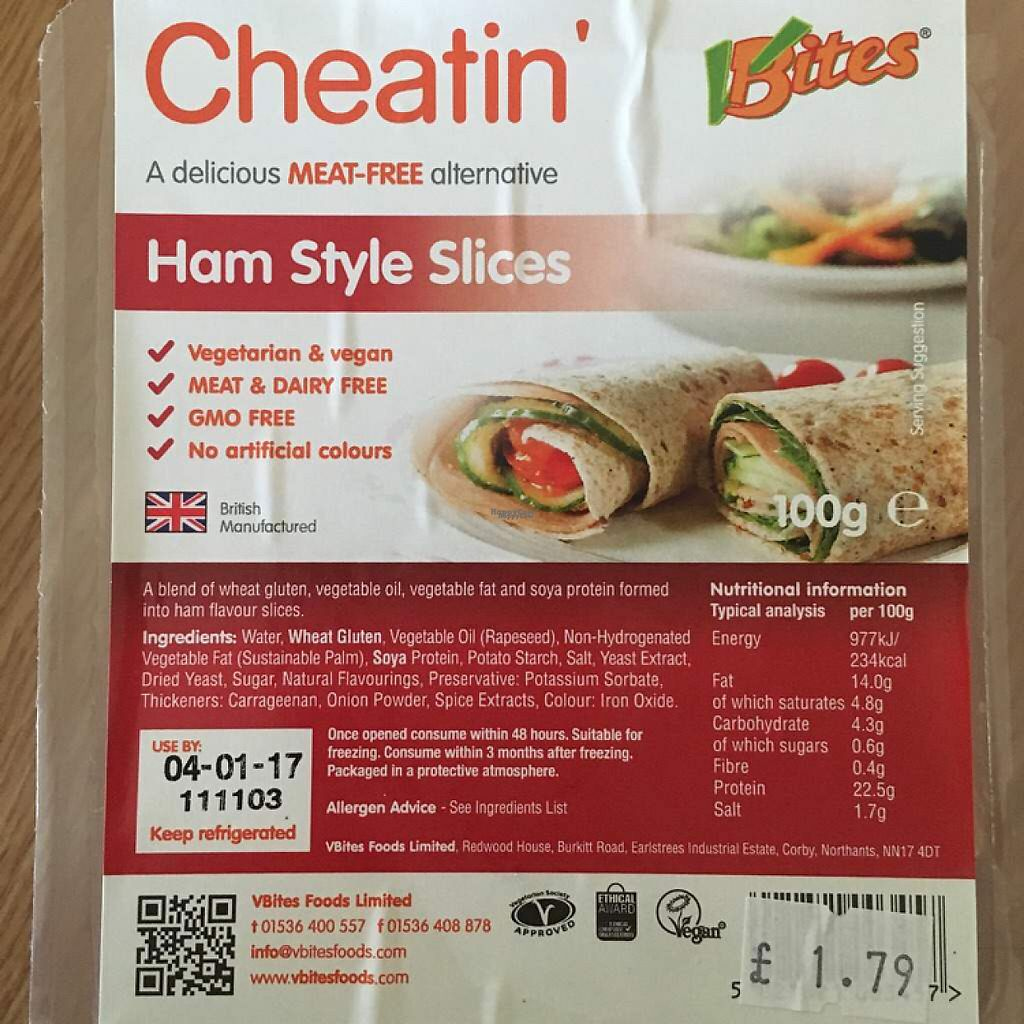 "Photo of Grain - Wholefood  by <a href=""/members/profile/romyhoskin"">romyhoskin</a> <br/>VBites Ham Style Slices  <br/> April 17, 2017  - <a href='/contact/abuse/image/773/249441'>Report</a>"