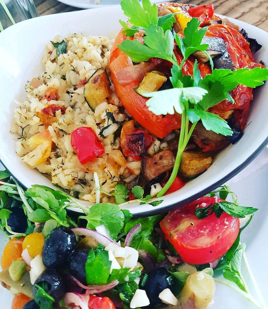 """Photo of The Zoo  by <a href=""""/members/profile/KatyEvelyn"""">KatyEvelyn</a> <br/>baked tomato and vegan risotto! <br/> September 12, 2017  - <a href='/contact/abuse/image/775/303634'>Report</a>"""