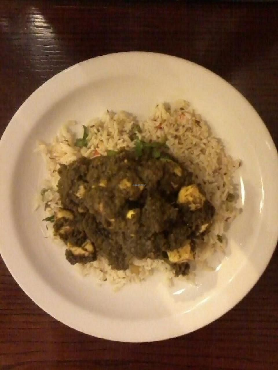 """Photo of Hansa's Restaurant  by <a href=""""/members/profile/deadpledge"""">deadpledge</a> <br/>Saag Paneer <br/> April 14, 2014  - <a href='/contact/abuse/image/776/182805'>Report</a>"""