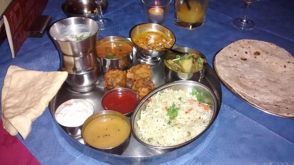 "Photo of Hansa's Restaurant  by <a href=""/members/profile/JonJon"">JonJon</a> <br/>Vegan thali <br/> September 22, 2014  - <a href='/contact/abuse/image/776/80723'>Report</a>"