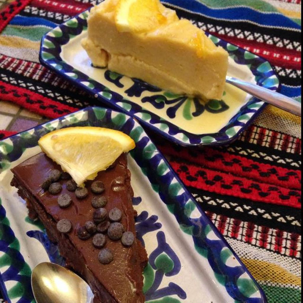 """Photo of El Piano  by <a href=""""/members/profile/Janeycat"""">Janeycat</a> <br/>Citrus cheesecake and Chocolate mousse pie <br/> August 26, 2014  - <a href='/contact/abuse/image/780/78318'>Report</a>"""