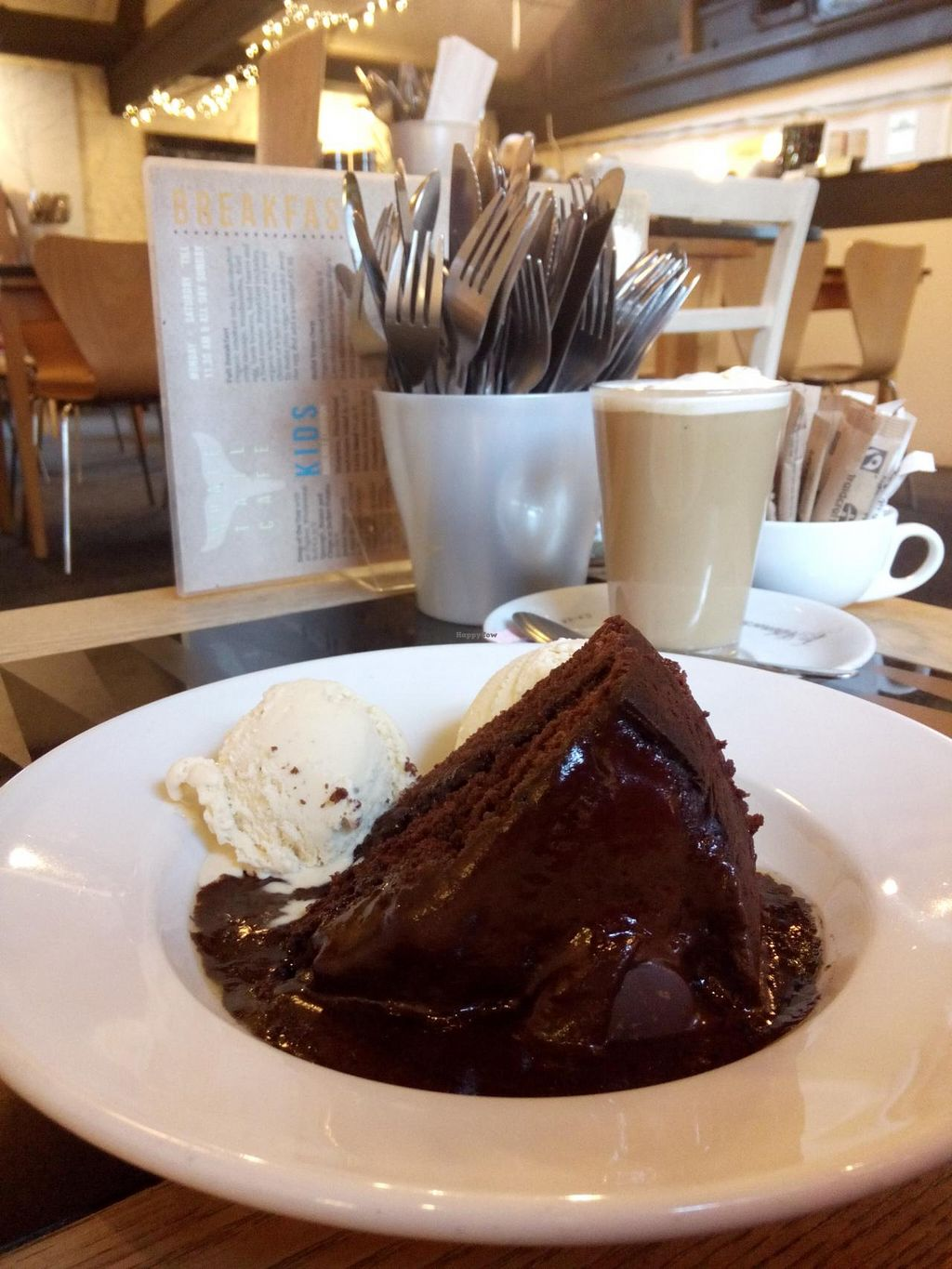 """Photo of The Whale Tail Cafe  by <a href=""""/members/profile/radiocaz"""">radiocaz</a> <br/>Vegan Choc Fudge Cake with vegan ice cream <br/> March 9, 2015  - <a href='/contact/abuse/image/791/95286'>Report</a>"""