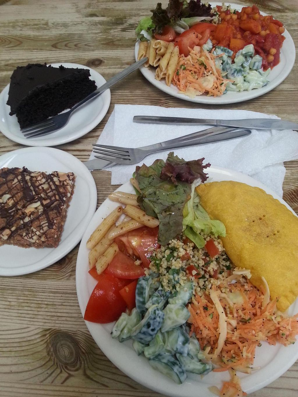"Photo of Blue Moon Cafe  by <a href=""/members/profile/Miggi"">Miggi</a> <br/>Jamaica pattie with salad, roast butternut squash, chick pea and red peppee bake, both served with salads. peanut butter blondie and dark choc cake <br/> May 15, 2014  - <a href='/contact/abuse/image/799/70019'>Report</a>"