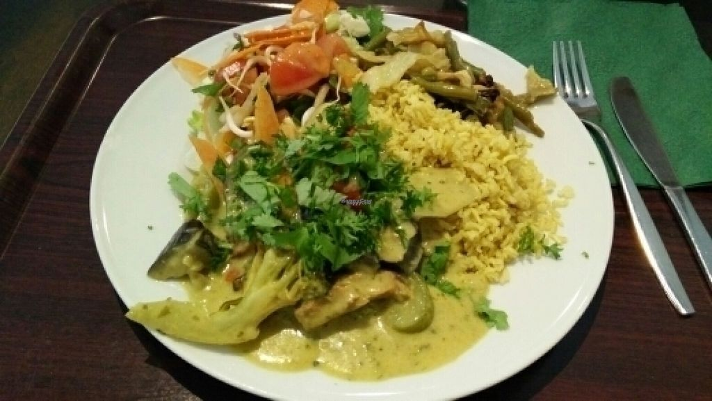 """Photo of Zucchini Vegetarian Cafe  by <a href=""""/members/profile/OTL"""">OTL</a> <br/>Delicious green curry <br/> August 16, 2016  - <a href='/contact/abuse/image/846/169215'>Report</a>"""