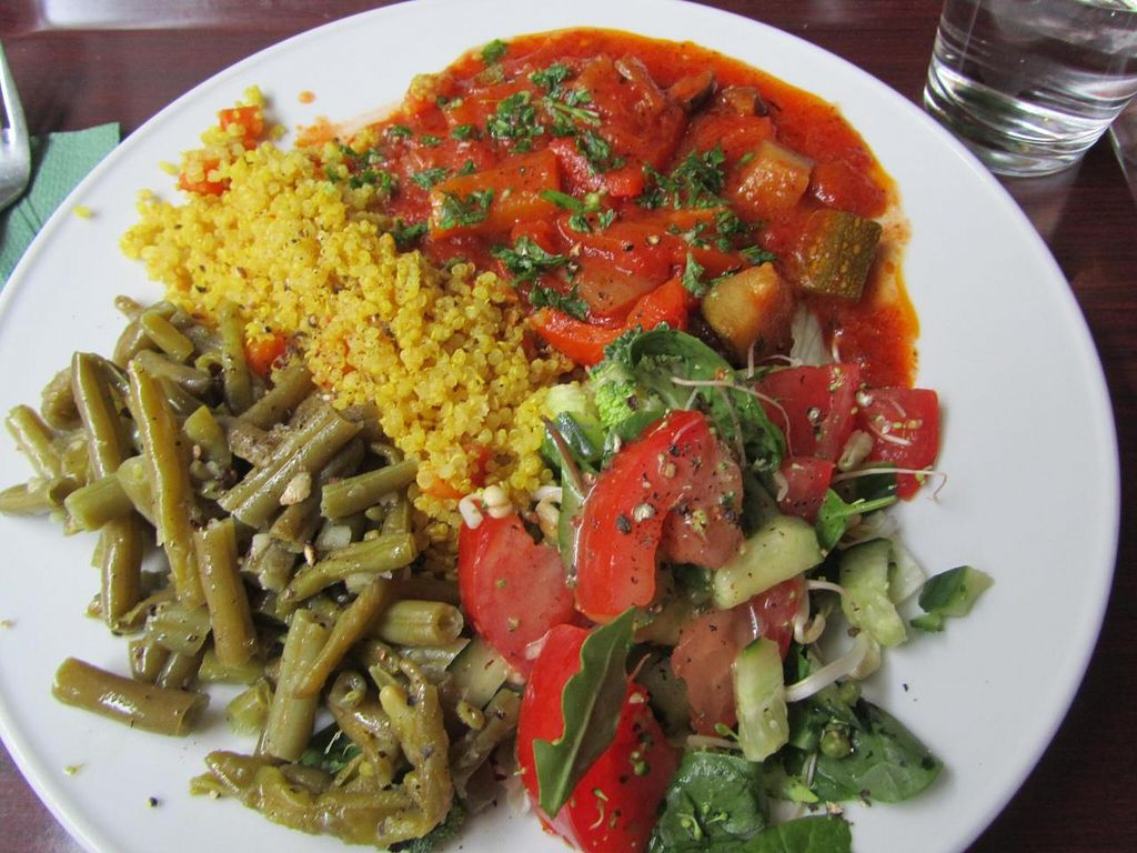 """Photo of Zucchini Vegetarian Cafe  by <a href=""""/members/profile/CLRtraveller"""">CLRtraveller</a> <br/>a plate-of-the-day <br/> August 10, 2014  - <a href='/contact/abuse/image/846/76582'>Report</a>"""