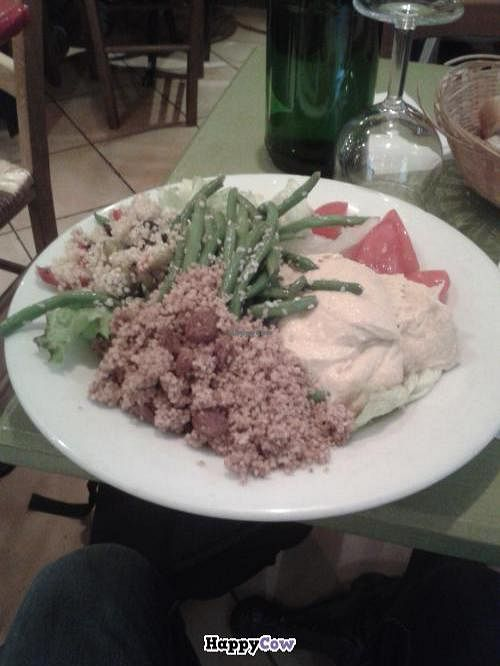 """Photo of La Faim des Haricots - Puits Vert  by <a href=""""/members/profile/JonJon"""">JonJon</a> <br/>Simple salad with non-vegan houmous (crazy!) that I did not eat, as a consequence <br/> November 9, 2013  - <a href='/contact/abuse/image/882/58215'>Report</a>"""