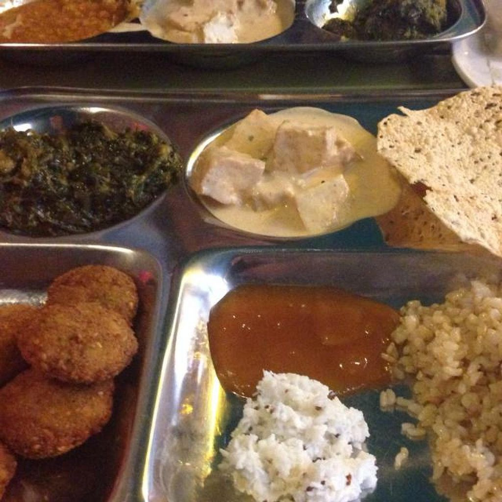 "Photo of Satyam  by <a href=""/members/profile/Manfredson"">Manfredson</a> <br/>nearly everything on the sunday buffet is vegan <br/> July 27, 2014  - <a href='/contact/abuse/image/895/75235'>Report</a>"