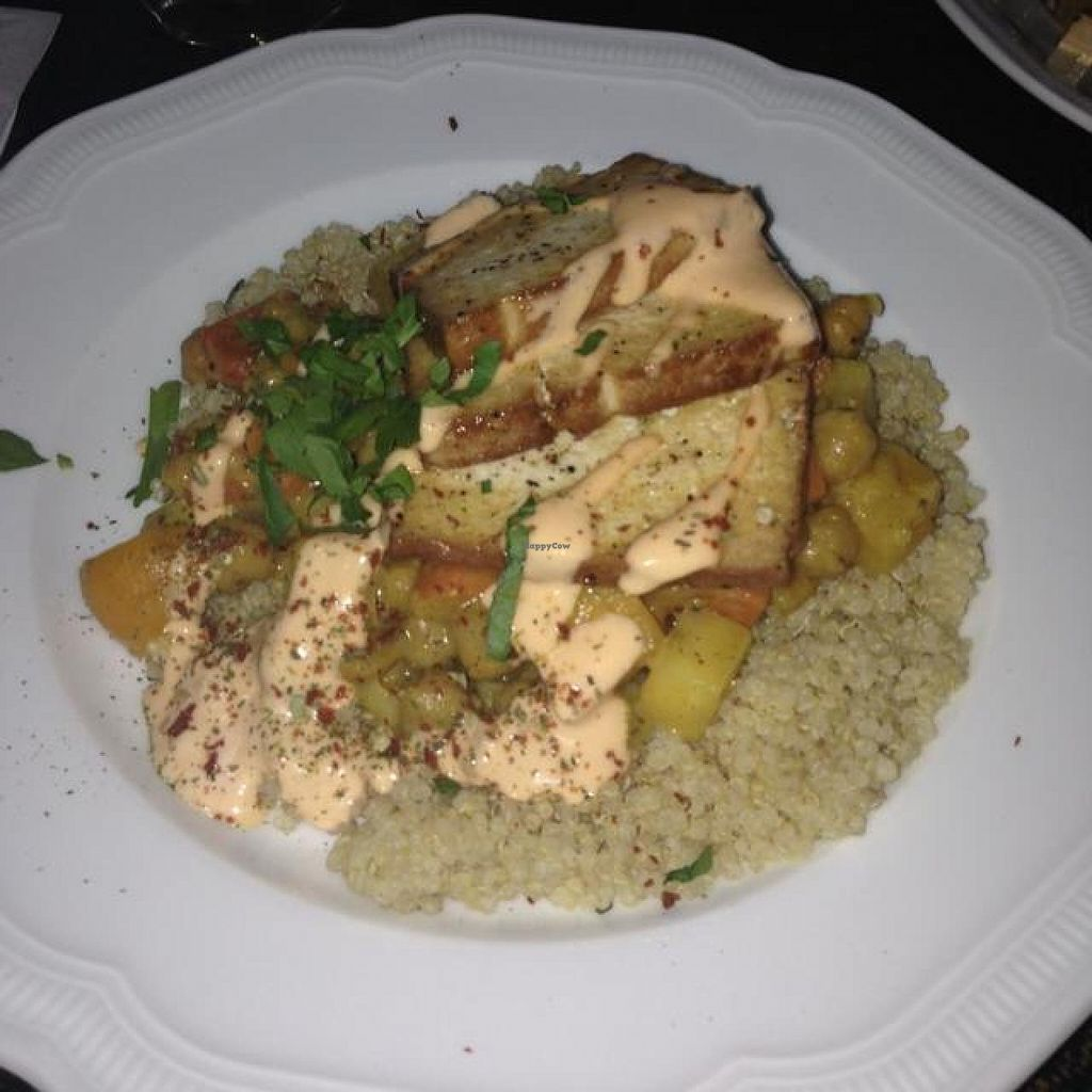 """Photo of Hiller  by <a href=""""/members/profile/AndyT"""">AndyT</a> <br/>Chickpea curry with smoked tofu and quinoa <br/> April 17, 2014  - <a href='/contact/abuse/image/926/67805'>Report</a>"""