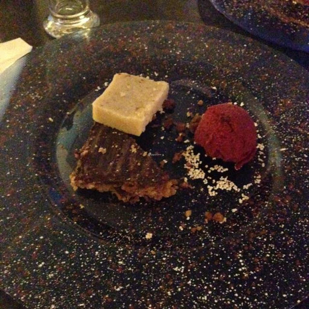 """Photo of Hiller  by <a href=""""/members/profile/AndyT"""">AndyT</a> <br/>Dessert variety: cranberry chocolate cake, pear parfait, berry sorbet <br/> April 17, 2014  - <a href='/contact/abuse/image/926/67806'>Report</a>"""
