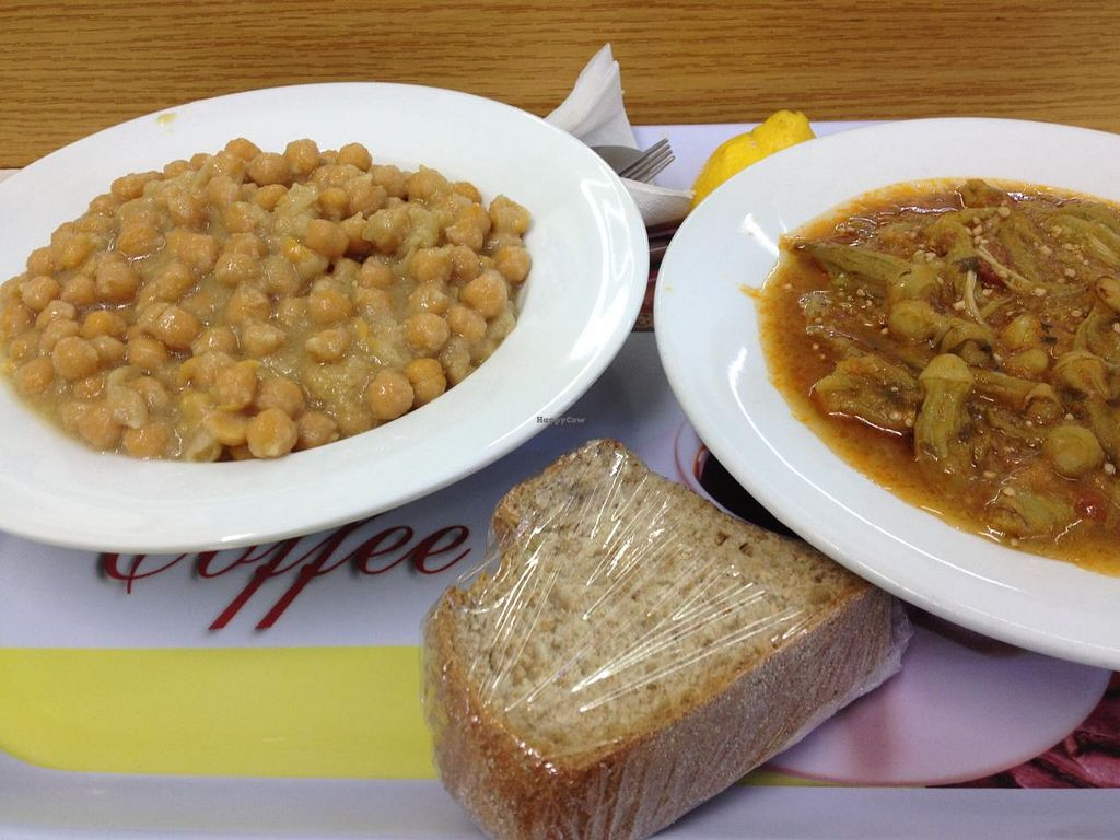 """Photo of Health Ecology - Papanikolas Hygiene Theroes  by <a href=""""/members/profile/vegan_ryan"""">vegan_ryan</a> <br/>Chickpeas & bowl of soup & bread. None of it was warm or hot <br/> February 19, 2014  - <a href='/contact/abuse/image/946/64532'>Report</a>"""