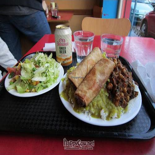 """Photo of Govinda's - Aungier St  by <a href=""""/members/profile/suecag"""">suecag</a> <br/>Very heavy heaping plate of food from Govinda's. Great deal. Ask what is vegan, they're friendly <br/> September 20, 2011  - <a href='/contact/abuse/image/970/10736'>Report</a>"""