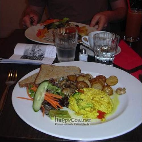 """Photo of CLOSED: Juice  by <a href=""""/members/profile/wildfang"""">wildfang</a> <br/>tofu with vegetables, mushrooms, potatoes, salad and toast <br/> February 7, 2010  - <a href='/contact/abuse/image/971/3598'>Report</a>"""