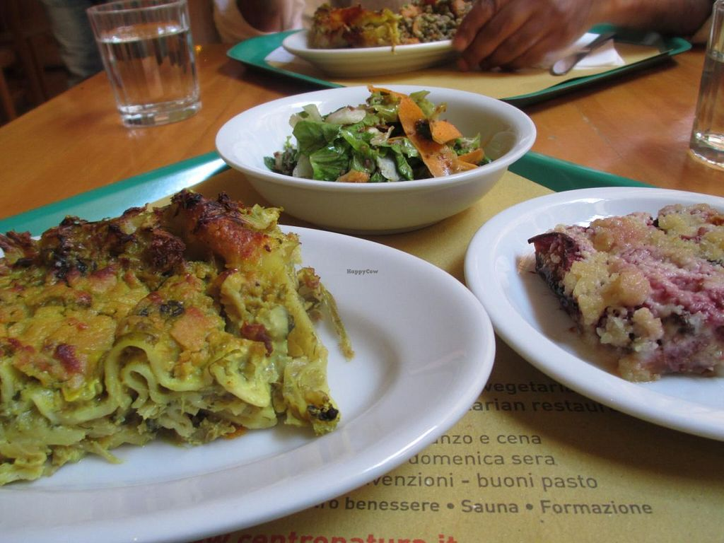 """Photo of Centro Natura  by <a href=""""/members/profile/Joyatri"""">Joyatri</a> <br/>Lasagna, salad and fruit crumble -- all delicious! <br/> July 19, 2015  - <a href='/contact/abuse/image/986/109877'>Report</a>"""