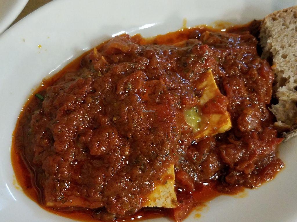 """Photo of Amico Bio - Un Sorriso Integrale  by <a href=""""/members/profile/JJones315"""">JJones315</a> <br/>Tofu in tomato sauce <br/> October 21, 2017  - <a href='/contact/abuse/image/999/317156'>Report</a>"""