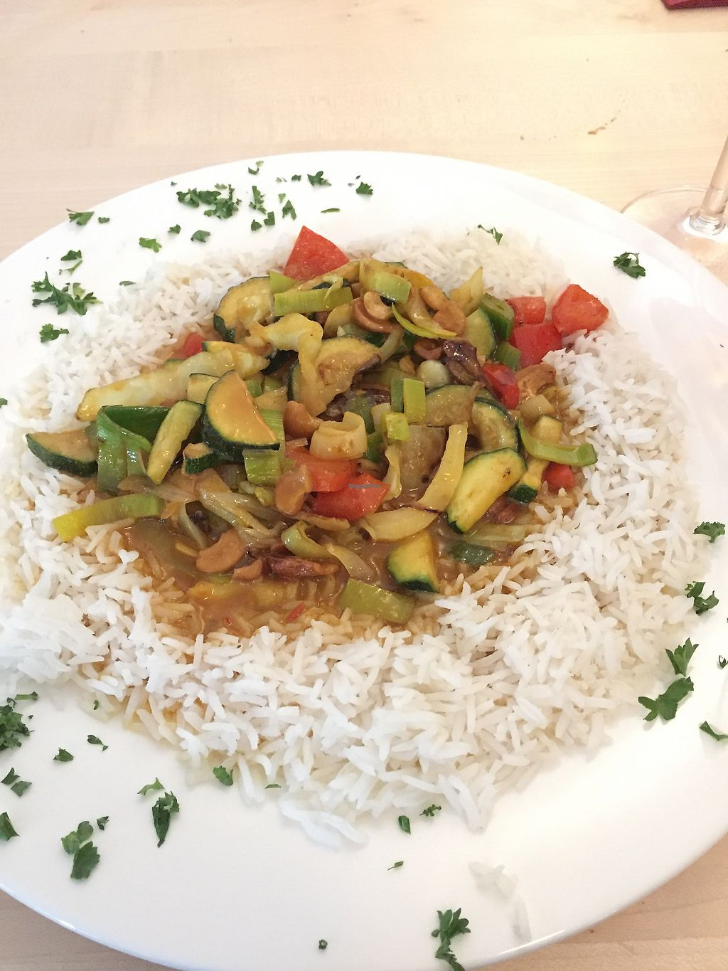 """Photo of Gasthaus zum Sternen  by <a href=""""/members/profile/vegandesi.res"""">vegandesi.res</a> <br/>Vegan curry with rice <br/> September 3, 2017  - <a href='/contact/abuse/image/100000/300332'>Report</a>"""
