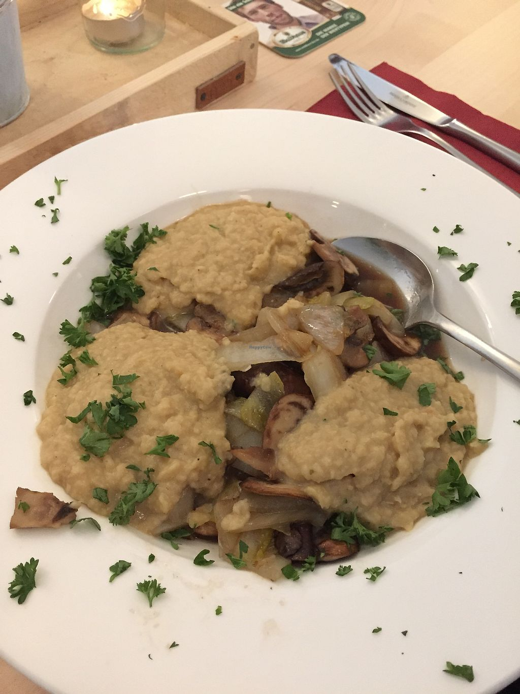 """Photo of Gasthaus zum Sternen  by <a href=""""/members/profile/vegandesi.res"""">vegandesi.res</a> <br/>Lovely chicory/ endive meal <br/> September 3, 2017  - <a href='/contact/abuse/image/100000/300334'>Report</a>"""
