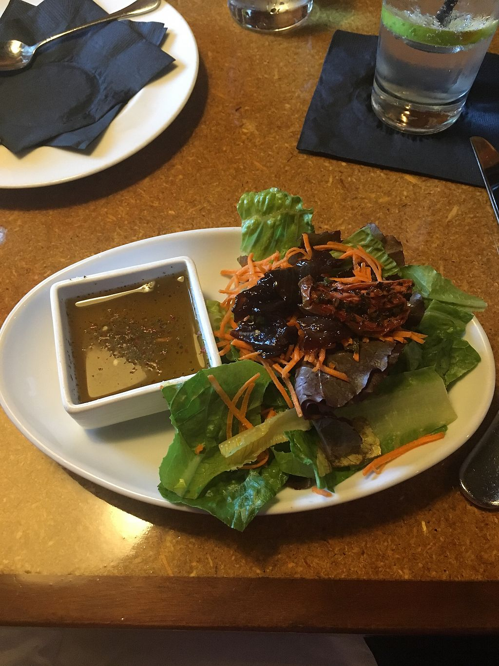 """Photo of Bearded Dogg Lounge  by <a href=""""/members/profile/Mariarosekicks"""">Mariarosekicks</a> <br/>vegan Sobeit- portobellos and grilled veggies  <br/> September 4, 2017  - <a href='/contact/abuse/image/100019/300872'>Report</a>"""