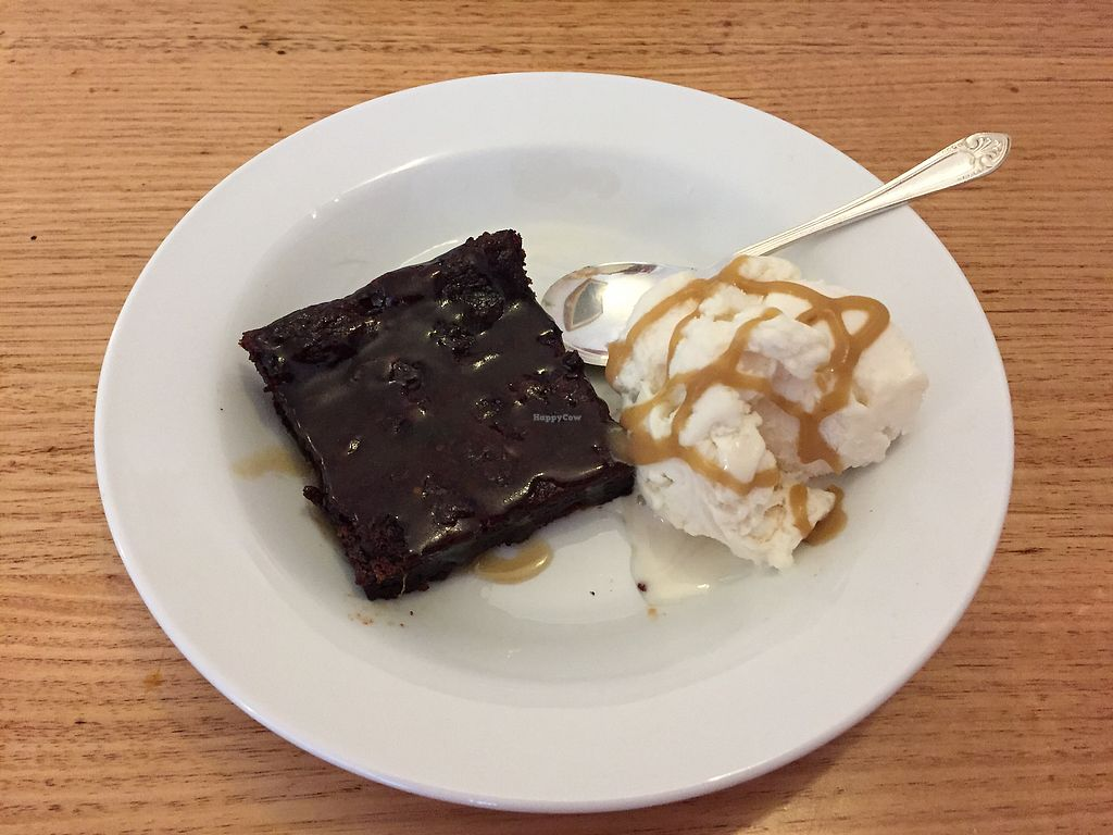 """Photo of Loving Hut  by <a href=""""/members/profile/Wuji_Luiji"""">Wuji_Luiji</a> <br/>Sticky date pudding with soy ice cream  <br/> October 26, 2017  - <a href='/contact/abuse/image/100035/318979'>Report</a>"""
