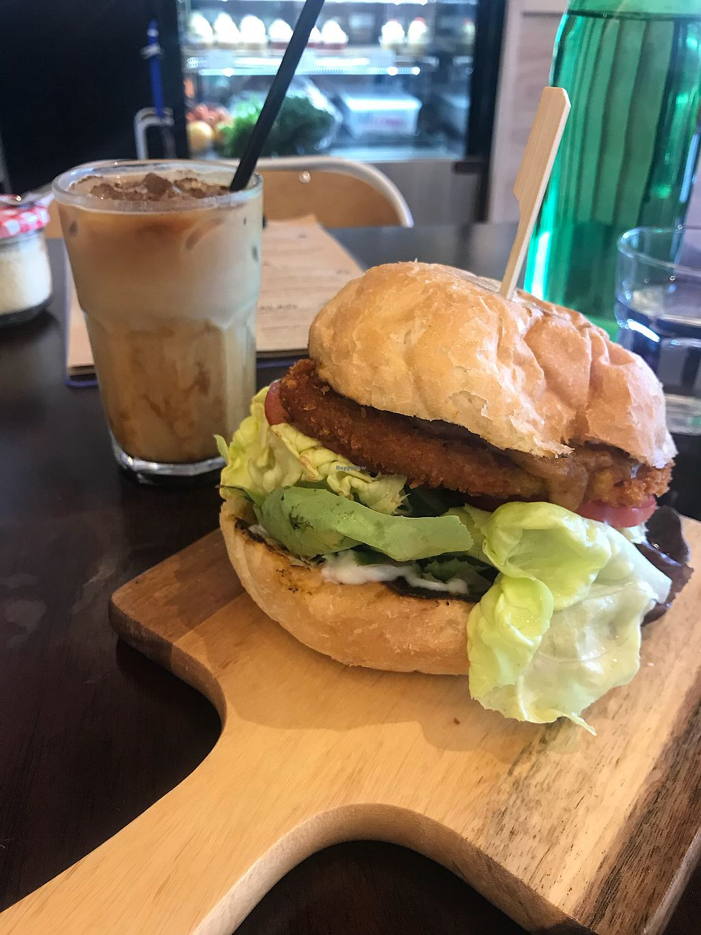 """Photo of Oh My Greens  by <a href=""""/members/profile/BrionyJenkinson"""">BrionyJenkinson</a> <br/>Seitan Burger- OMG good <br/> December 3, 2017  - <a href='/contact/abuse/image/100038/331919'>Report</a>"""