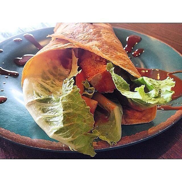 """Photo of Refuge Cafe  by <a href=""""/members/profile/community5"""">community5</a> <br/>Buffalo Bill vegan wrap <br/> September 4, 2017  - <a href='/contact/abuse/image/100047/300949'>Report</a>"""