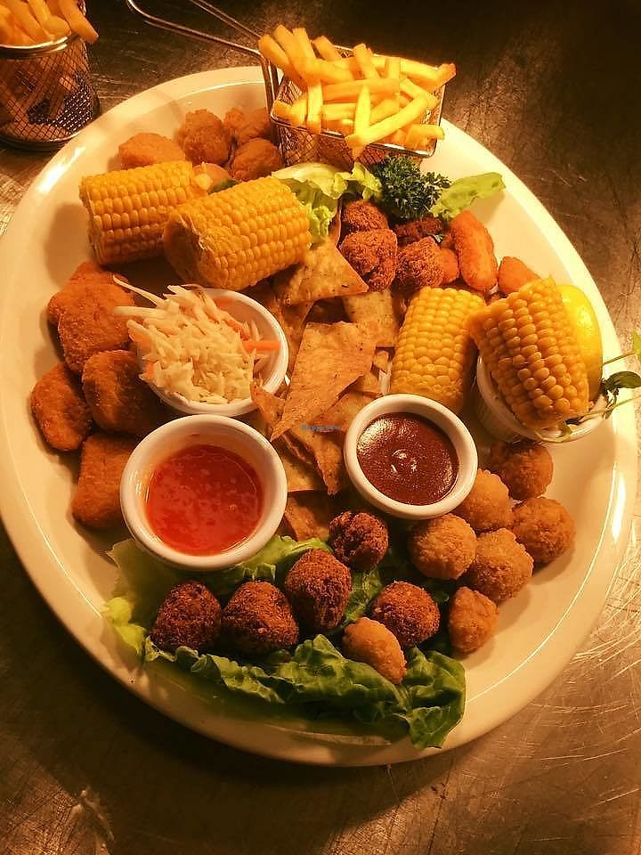 """Photo of Maple Leaf Restaurant & Cafe  by <a href=""""/members/profile/community5"""">community5</a> <br/>Vegan platter for two <br/> September 5, 2017  - <a href='/contact/abuse/image/100057/301276'>Report</a>"""