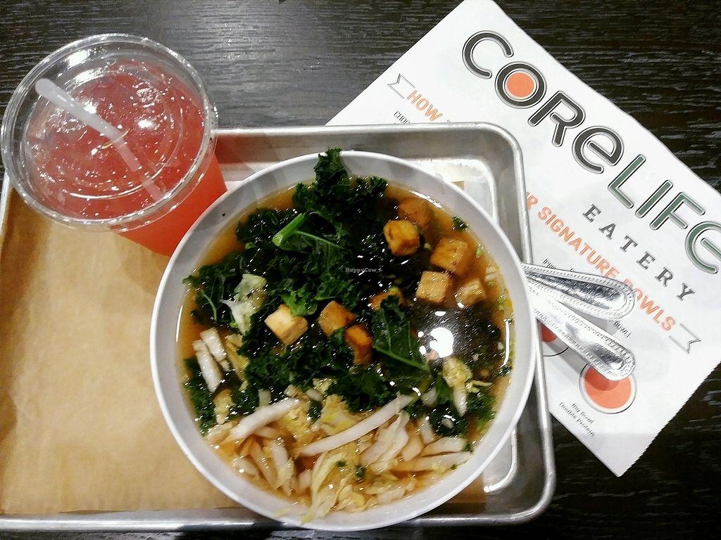 "Photo of CoreLife Eatery  by <a href=""/members/profile/SarahMorinPalmani"">SarahMorinPalmani</a> <br/>Broth bowl with roasted tofu <br/> November 18, 2017  - <a href='/contact/abuse/image/100058/326788'>Report</a>"