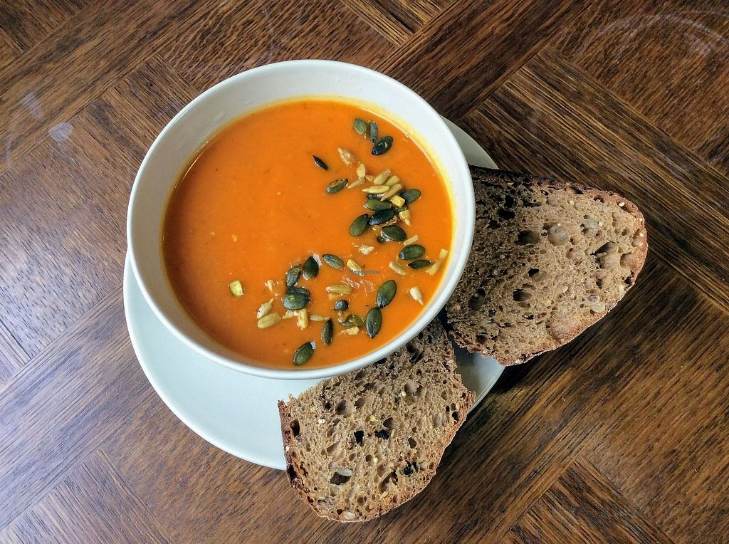 """Photo of Feed the Soul  by <a href=""""/members/profile/The%20Smiths"""">The Smiths</a> <br/>Red Pepper and Carrot Soup <br/> September 9, 2017  - <a href='/contact/abuse/image/100074/302631'>Report</a>"""