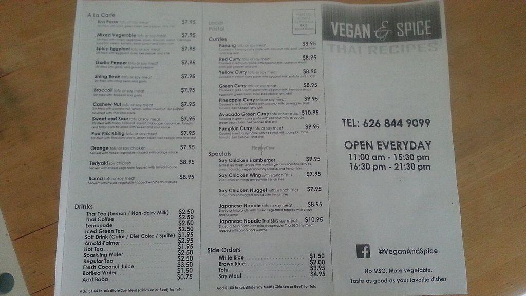 "Photo of Vegan & Spice Thai Recipes  by <a href=""/members/profile/smethekin"">smethekin</a> <br/>Menu <br/> September 1, 2017  - <a href='/contact/abuse/image/100094/300113'>Report</a>"