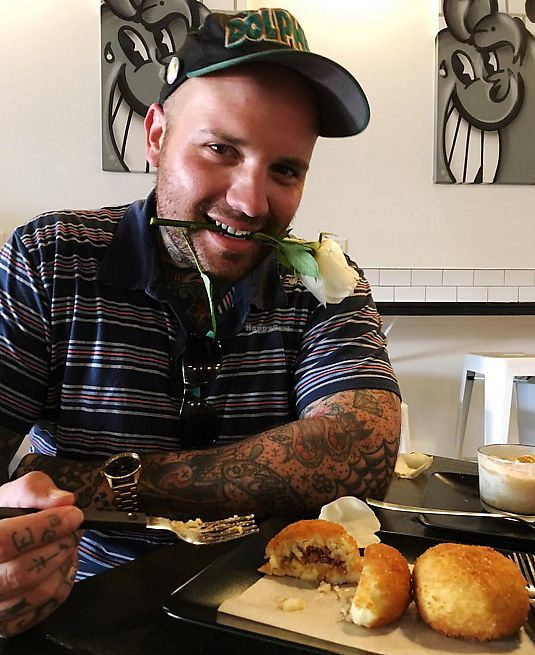 """Photo of White Rose Coffee  by <a href=""""/members/profile/mnccrvjl"""">mnccrvjl</a> <br/>romantically enjoying Cuban style papa rellena (stuffed potato ball) with an affogato on the side  <br/> October 6, 2017  - <a href='/contact/abuse/image/100103/312445'>Report</a>"""