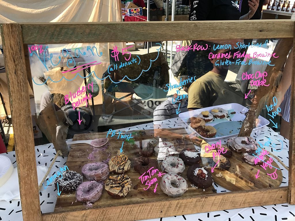 """Photo of Cakegirl Donuts  by <a href=""""/members/profile/AmandaAttard"""">AmandaAttard</a> <br/>Stall display at Burleigh Heads farmers market <br/> September 10, 2017  - <a href='/contact/abuse/image/100112/303093'>Report</a>"""