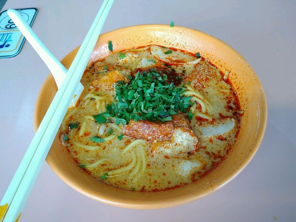 """Photo of Lucky Vegetarian Stall  by <a href=""""/members/profile/RichardLee"""">RichardLee</a> <br/>Laksa - Daily special for Mon / Sat  <br/> September 3, 2017  - <a href='/contact/abuse/image/100136/300320'>Report</a>"""
