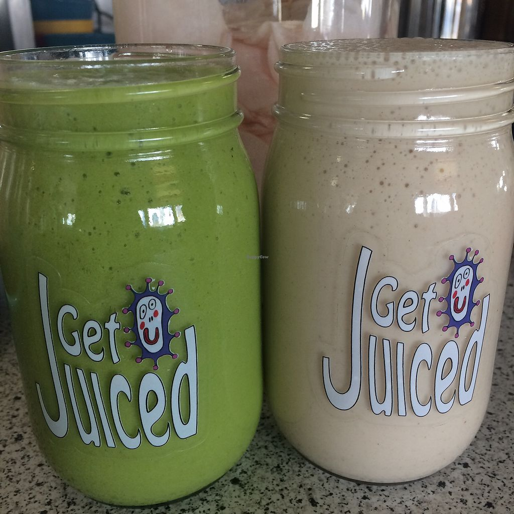 "Photo of Get Juiced Farm  by <a href=""/members/profile/ReinBeau"">ReinBeau</a> <br/>Green Smoothie and ""Monkey Mash"" <br/> January 15, 2018  - <a href='/contact/abuse/image/100154/346773'>Report</a>"