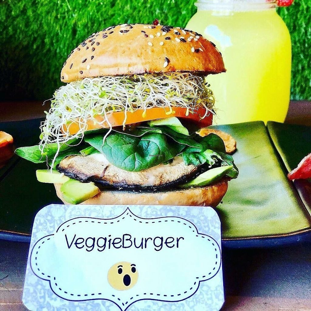 """Photo of CLOSED: Fit One Kitchen  by <a href=""""/members/profile/YanethGris"""">YanethGris</a> <br/>Vegan hamburger  <br/> September 3, 2017  - <a href='/contact/abuse/image/100174/300620'>Report</a>"""