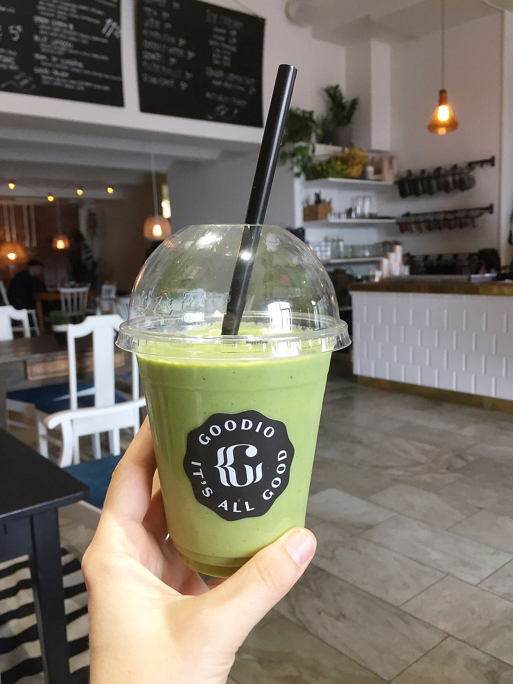 """Photo of Goodio Cafe  by <a href=""""/members/profile/Evgenia"""">Evgenia</a> <br/>green smoothie  <br/> September 4, 2017  - <a href='/contact/abuse/image/100184/300723'>Report</a>"""
