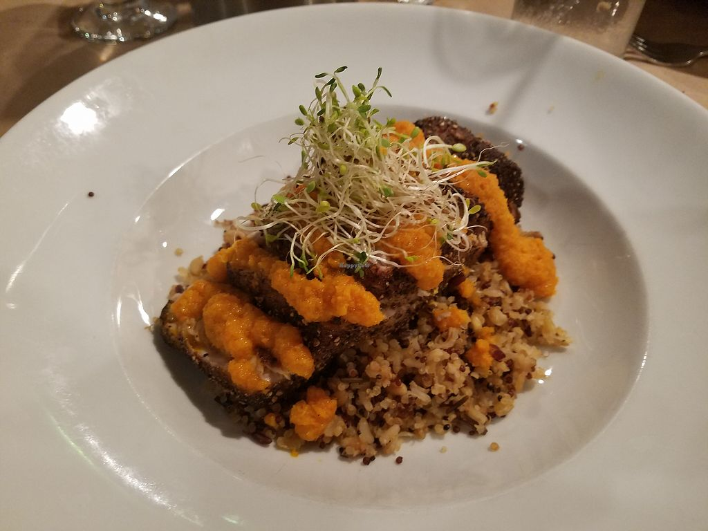 """Photo of Crazy Fish Bar & Gill  by <a href=""""/members/profile/thomasjohnlynch"""">thomasjohnlynch</a> <br/>they have vegan options or substitutions  these are some std dishes as well to show culinary capability.   ginger sauce with tuna on quinoa <br/> September 8, 2017  - <a href='/contact/abuse/image/100210/302167'>Report</a>"""
